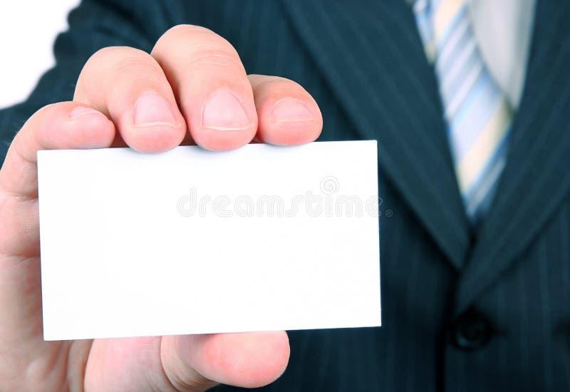визитная карточка пустая стоковая фотография rf