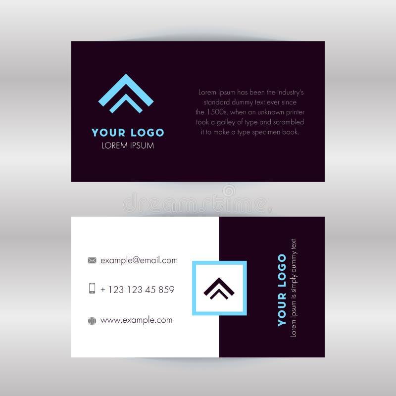 Визитная карточка со стильным и современным дизайном иллюстрация штока