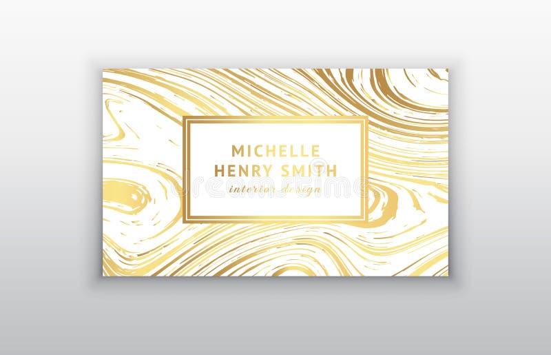 Визитная карточка с мраморной текстурой иллюстрация штока