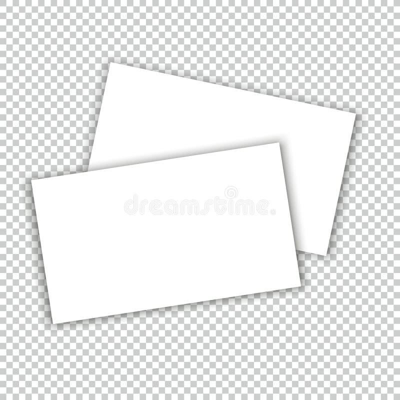 Визитная карточка с шаблоном крышки модель-макета тени иллюстрация штока