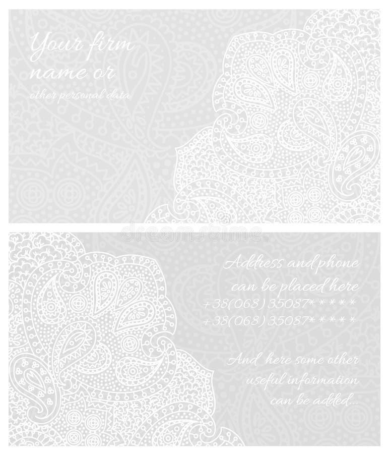 Визитная карточка шнурка Пейсли иллюстрация штока