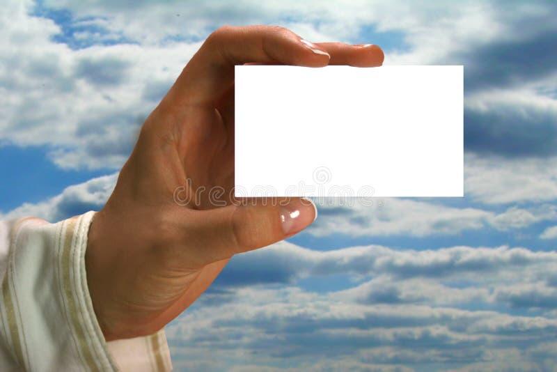 визитная карточка стоковая фотография rf