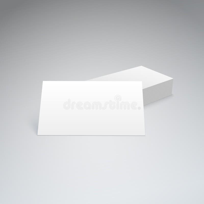 Визитные карточки с мягкой тенью бесплатная иллюстрация