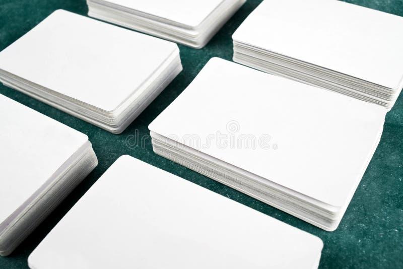 Визитные карточки с округленными углами стоковые фото