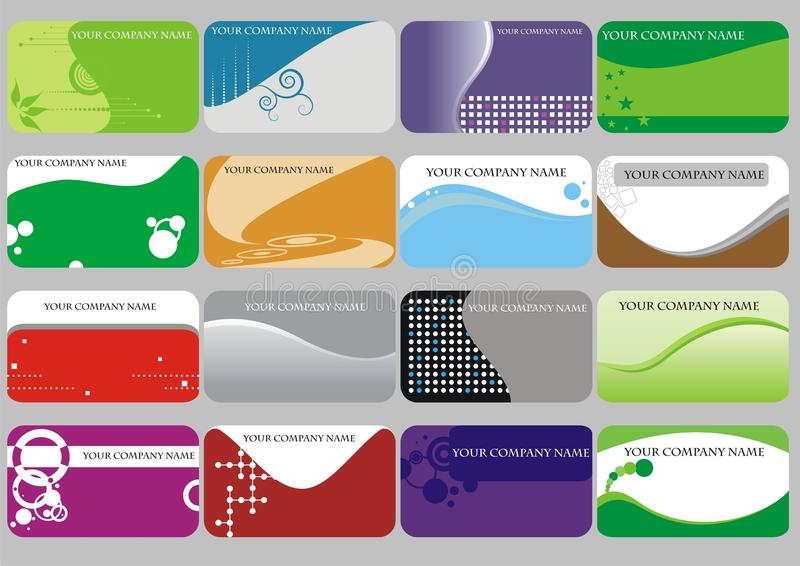 визитные карточки иллюстрация вектора