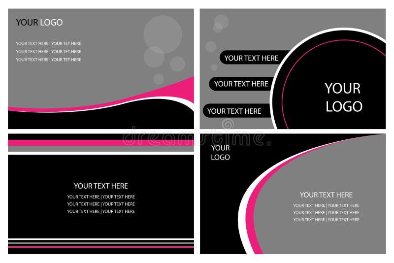 визитные карточки иллюстрация штока