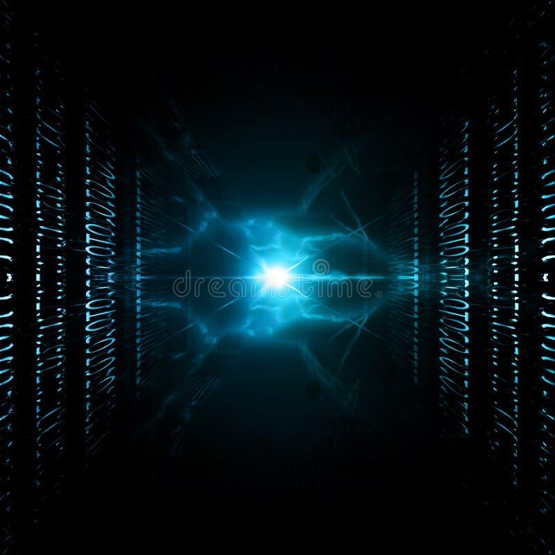 Визуализирование интернета иллюстрация вектора