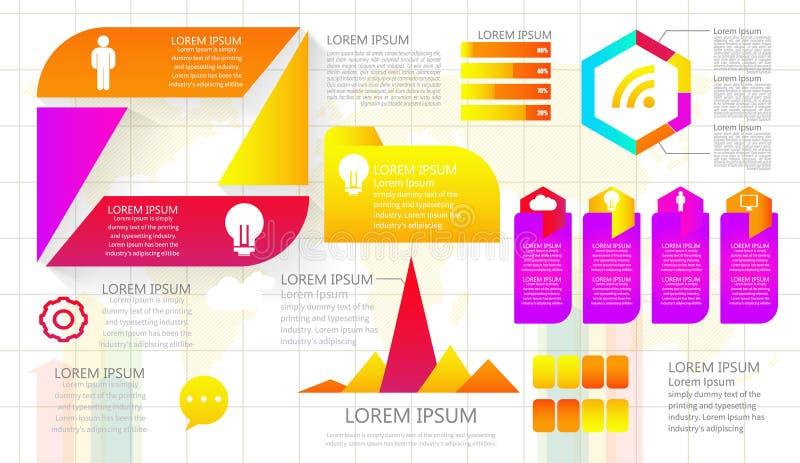 Визуализирование коммерческих информаций Технологическая карта операций Абстрактные элементы  бесплатная иллюстрация