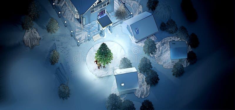Визуализированная иллюстрация на Новый Год стоковые изображения