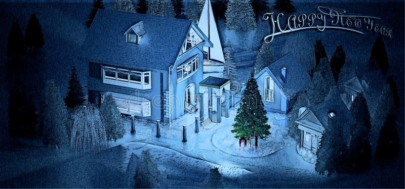 Визуализированная иллюстрация на Новый Год стоковые изображения rf
