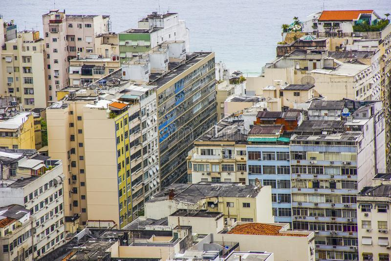 Визуальное следа холма joao в copacabana стоковые фото