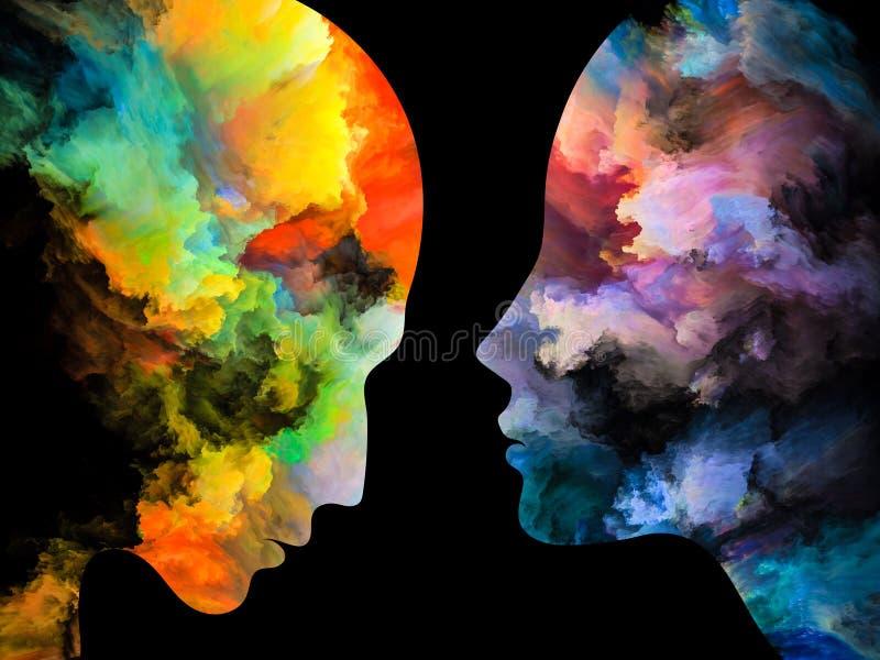 Визуализирование внутренних цветов иллюстрация штока