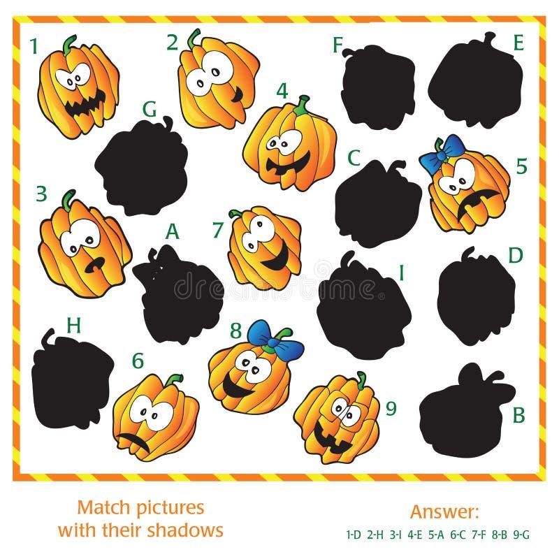 Визуальная головоломка - соответствуйте изображениям к их бесплатная иллюстрация