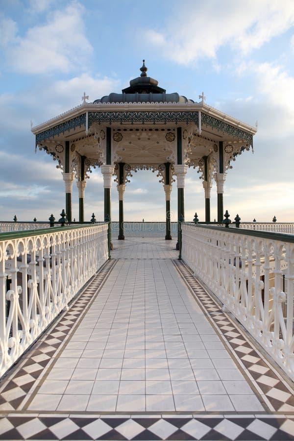 викторианец brighton Англии bandstand стоковые фотографии rf