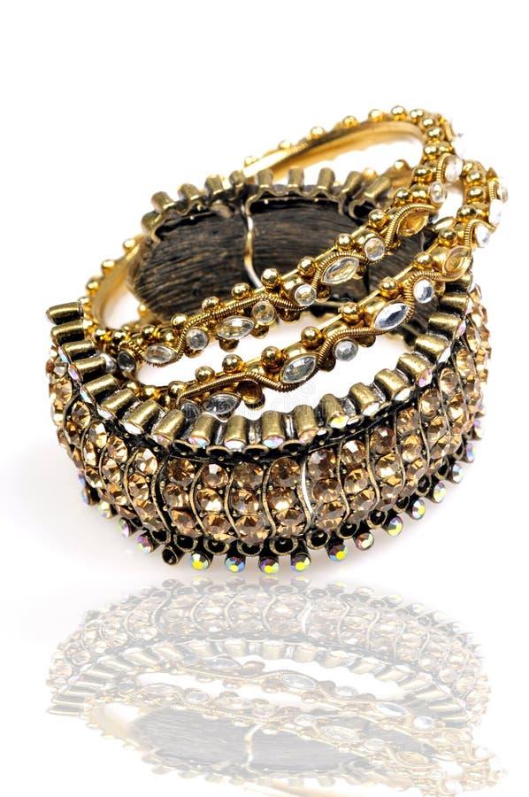 викторианец jewellery браслетов стоковая фотография