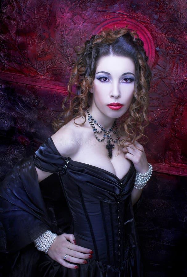 Download Викторианская дама стоковое изображение. изображение насчитывающей волосы - 40581117