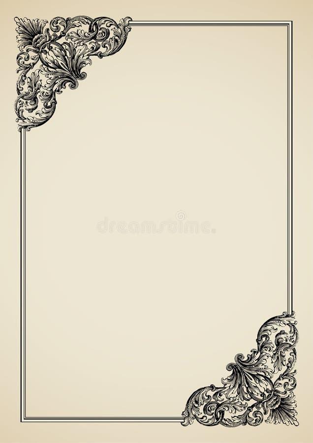 Викторианская граница иллюстрация вектора