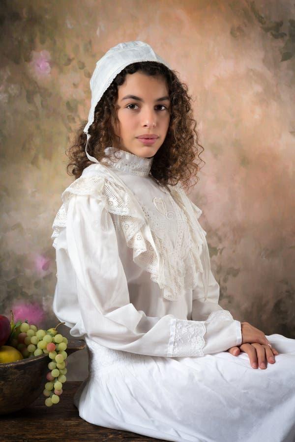 Викторианская молодая дама стоковое фото