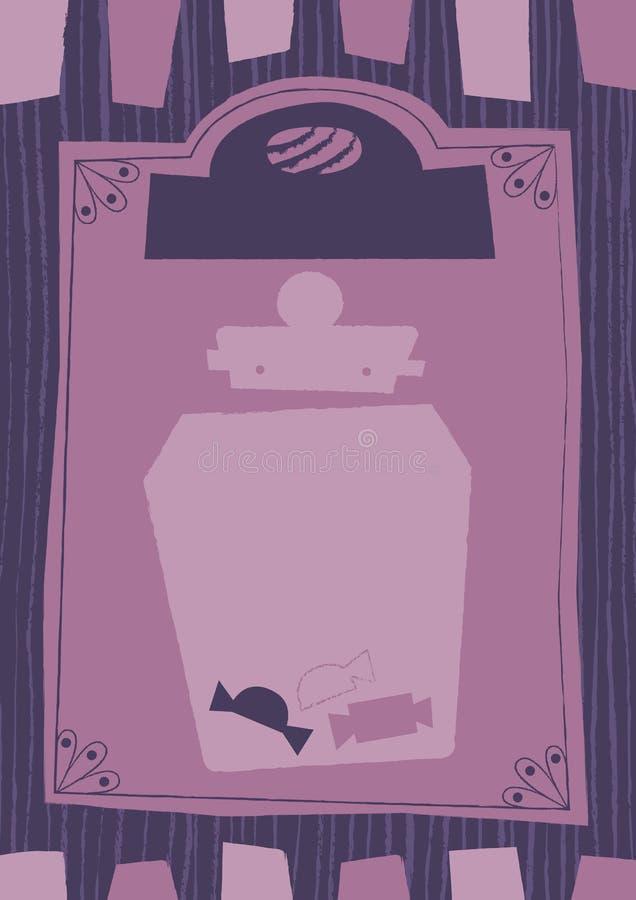 Викторианские готические сладостные предпосылка и рамка стиля магазина иллюстрация вектора