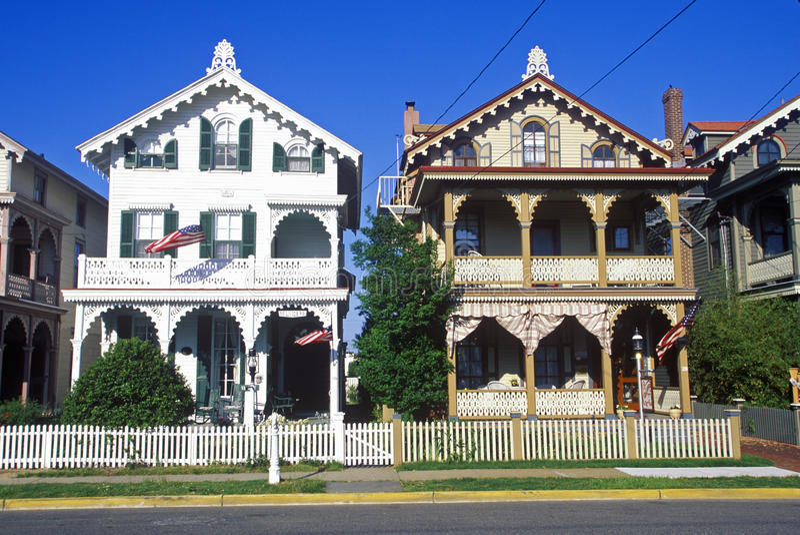 Викторианские дома стоковые фотографии rf