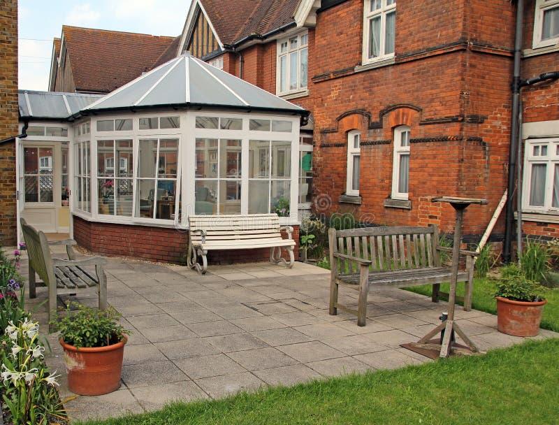 Викторианские дом и консерватория стоковые изображения rf