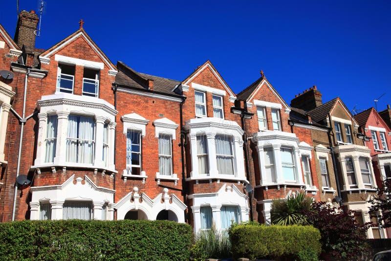 Викторианские террасные дома стоковые изображения