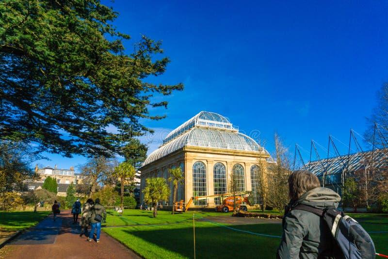 Викторианский дом ладони на королевских ботанических садах стоковые изображения rf