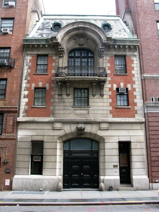 Викторианский дом экипажа в Нью-Йорке стоковые изображения