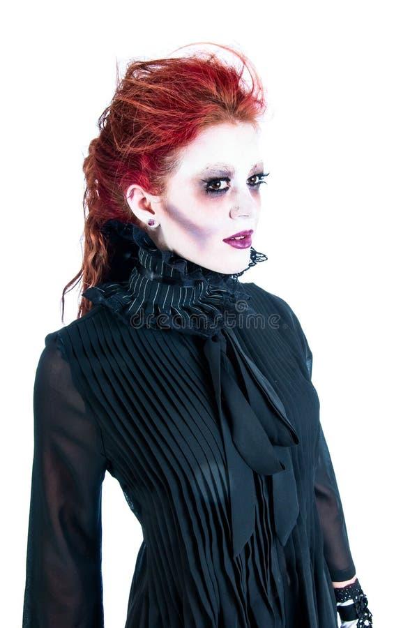 Викторианский призрак Redhead молодой женщины стоковое фото
