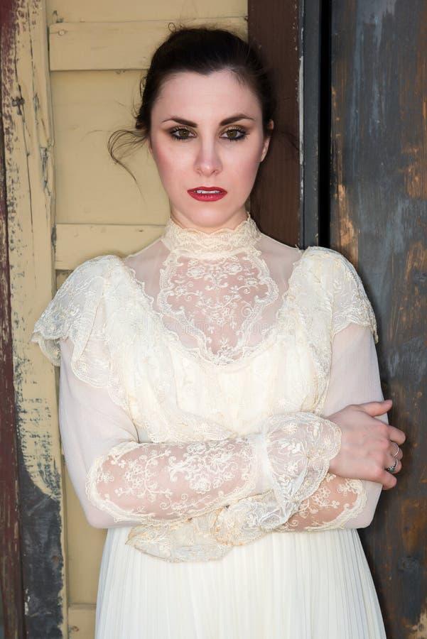 Викторианское платье стоковое фото rf