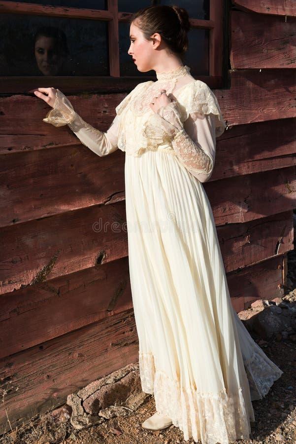Викторианское платье стоковые изображения
