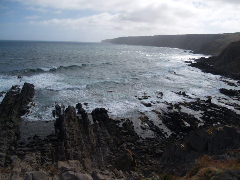 Виктор скалы Австралии выщербленный гаванью стоковое изображение
