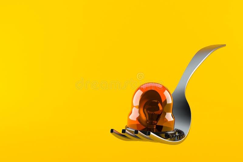 Вилка с аварийной сиреной бесплатная иллюстрация