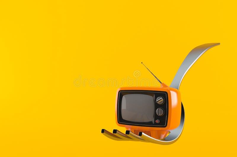 Вилка с телевизором бесплатная иллюстрация