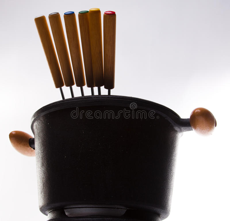 вилки fondue стоковая фотография rf
