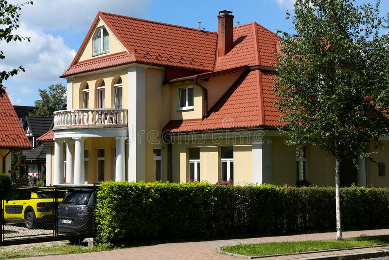 Вилла кирпича в Zakopane названа Boryna стоковые фотографии rf