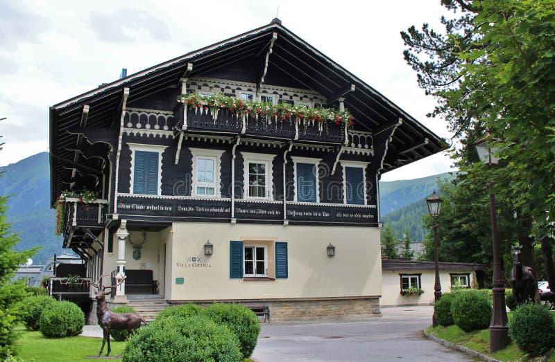 Вилла Orania в плохом Gastein, Австрии стоковые изображения
