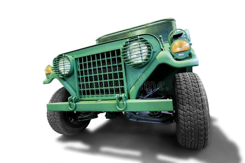 виллис автомобиля армии с дороги стоковые фото