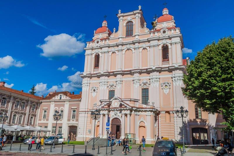 ВИЛЬНЮС, ЛИТВА - 15-ОЕ АВГУСТА 2016: Церковь St Casimir в Вильнюсе, Lithuani стоковая фотография