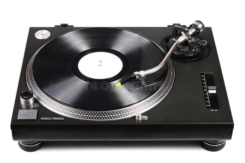 винил turntable tonearm dj рекордный стоковая фотография rf