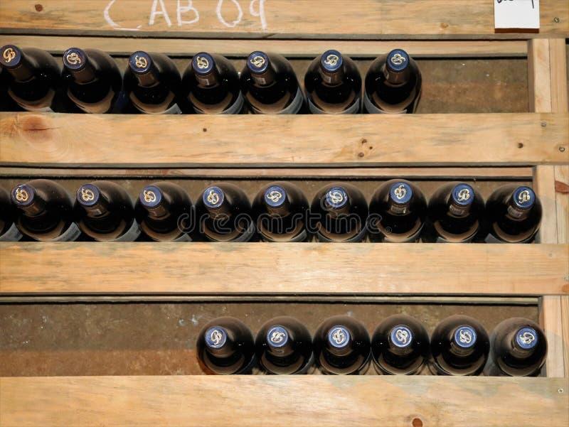 Винный погреб на винограднике Backsberg в Южной Африке стоковые изображения
