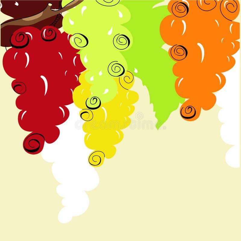 виноградина предпосылки стилизованная иллюстрация вектора