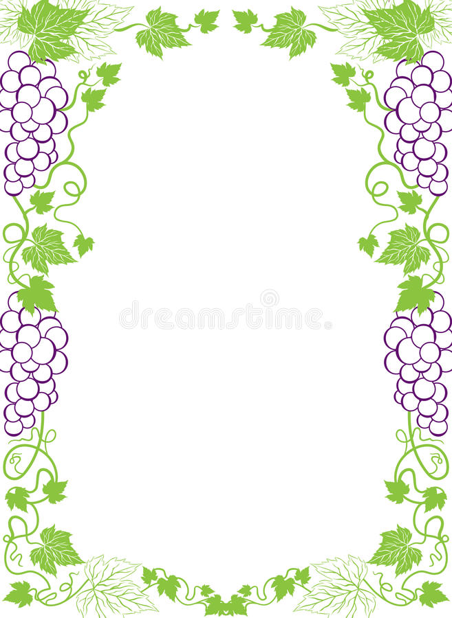 виноградины граници бесплатная иллюстрация
