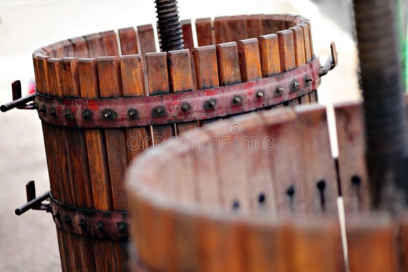 Виноградины задавливать машина стоковое фото