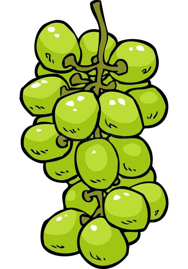Виноградины doodle шаржа иллюстрация штока
