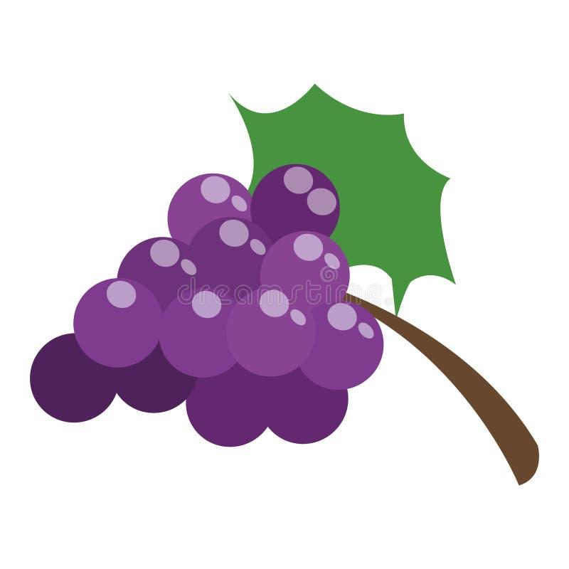 виноградины с значком лист бесплатная иллюстрация
