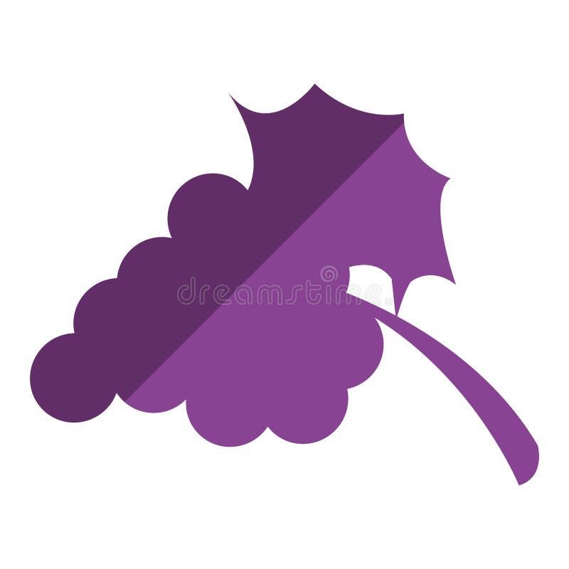 виноградины с значком лист иллюстрация вектора