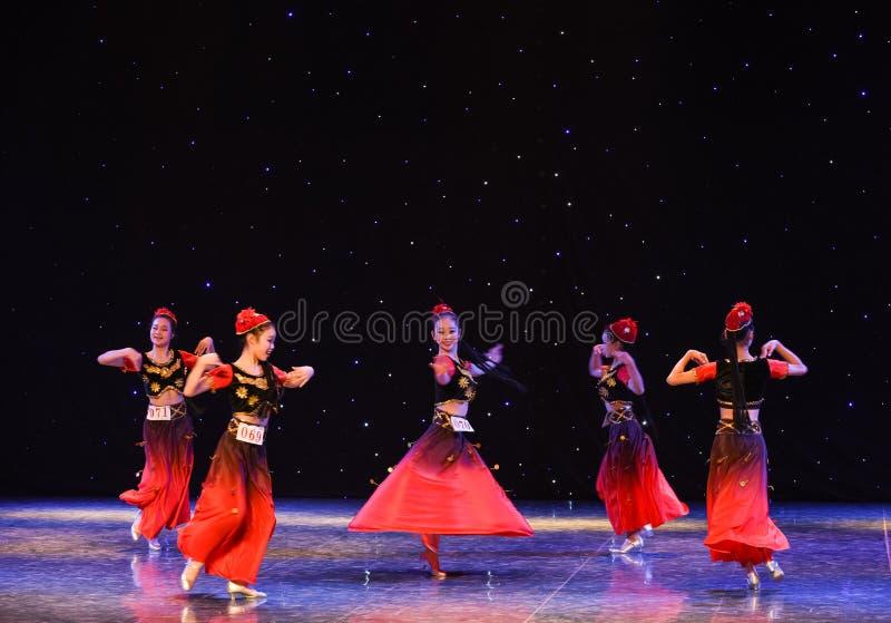 Виноградины Turpan народный танец соотечественника Зрел-Китая стоковое изображение rf