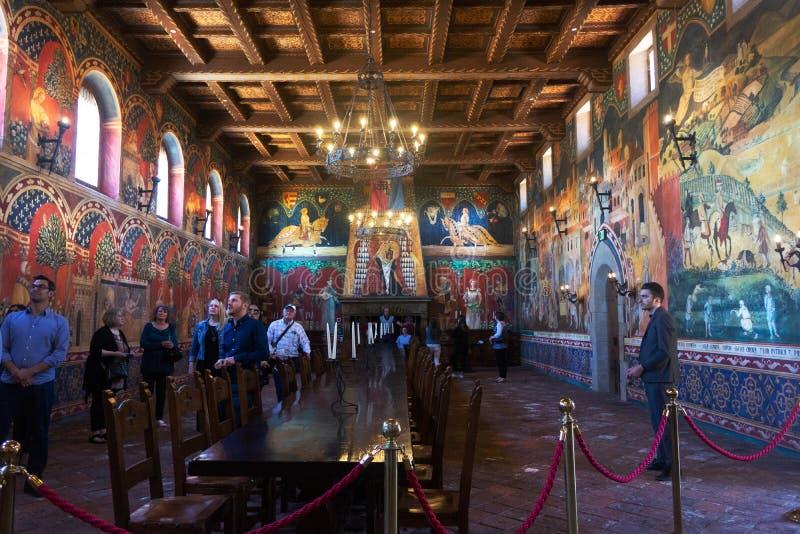Винодельня Castello di Amorosa Napa Valley стоковые изображения rf