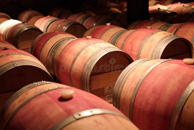 вино бочонков стоковое фото